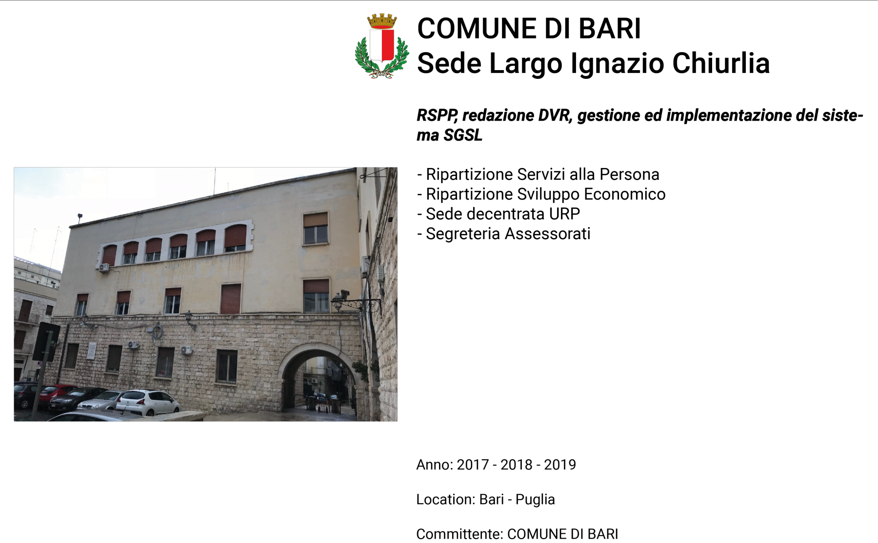 N.Bari-Sede-Largo-Ignazio-Chiurlia